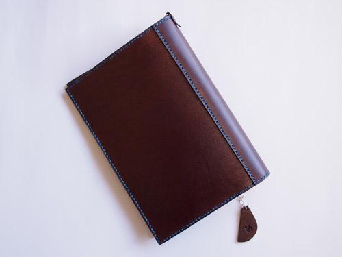 茶色の革ブックカバー1